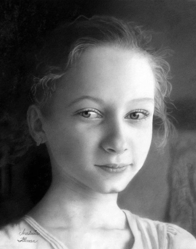 Anastasia Tillman (Stasi). aos treze anos - Autorretrato.