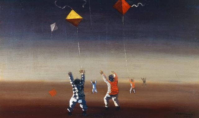 Meninos soltando pipa (1941) - Candido Portinari