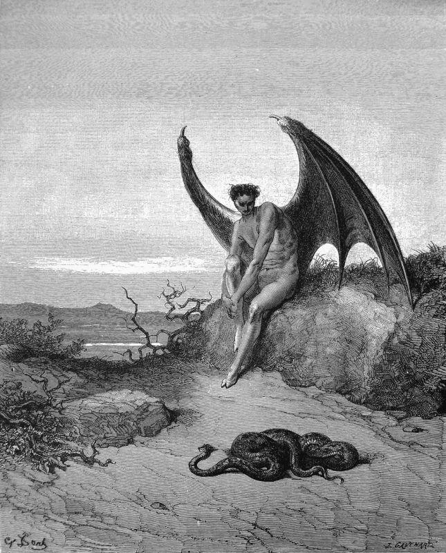 Gustave Doré, ilustração para O Paraíso Perdido.
